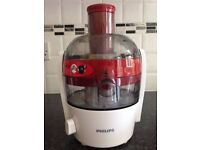 Boxed Philips HR1832/41 Viva Collection Compact Juicer, 1.5 Litre, 500 Watt in red and white