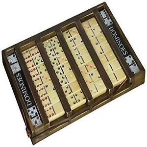 DOMINOES – ALL WOODEN SET – NEW