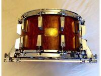 """Sonor signature Horst link 14"""" x 8"""" bubinga snare drum"""