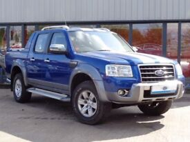 (NO VAT)2009 Ford Ranger Double-Cab Wildtrak 3.0 TDCi, New MOT, History, Suede/Leather, 60k, B'Tooth