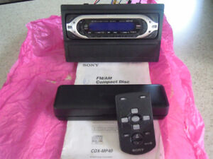 radio auto sony cdx-mp40