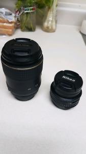 Tokina 100mm 2.8 & Nikon 50mm 1.8