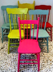 DESIGNER COLOURS Custom Painted ANTIQUE MODERN Chairs