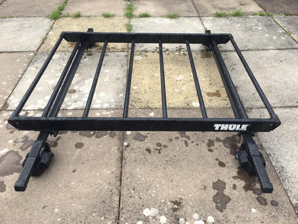 Thule Roof Rack Cage Basket And Halfords Load Bars
