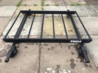 Thule roof rack / cage / basket and Halfords load bars
