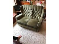 Small two seater velour