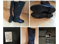 Original UGG black leather boots, UK 3.5, Brand NEW