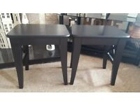 2 bedside tables black from ikea . £30 open to offers