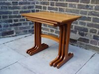 FREE DELIVERY Wooden Retro Nest of tables Vintage Furniture F