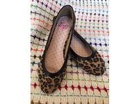Leopard Print Ballet Shoes Pumps Size 40/7
