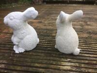 Concrete garden Rabbits (£4 each )