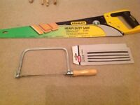 Stanley Heavy Duty Saw and Coping Saw with 4 new blades