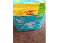 Pampers size 7 nappies