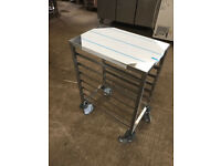 CATERING EQUIPMENT - TABLE WITH WHEEL AND RACKING - 7 GRID
