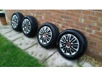Fiat 500 wheels and tyres plus wheel trims