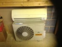 Hitachi dc inverter air con unit, hot and cold air