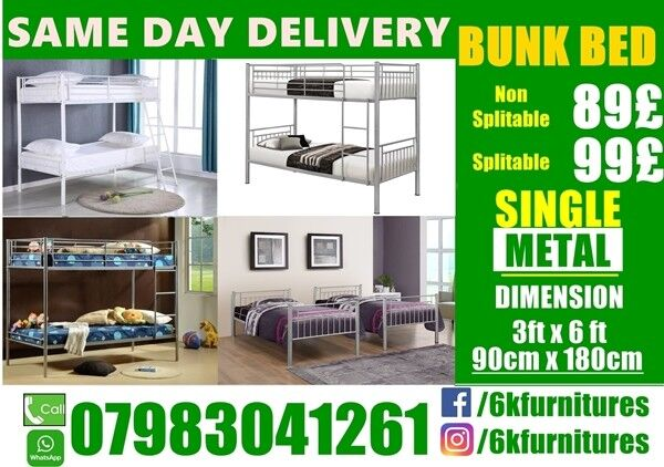 """Trio Sleeper metal Bunk Bedding frame availablein Newham, LondonGumtree - CALL NOW 07983041261 please click """"See all ads"""" at the top to see more Beds and other furniture in our store"""