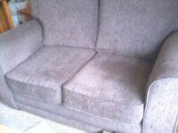 chocolate brown 2 seater sofa