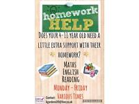 Homework Support Age 4-11