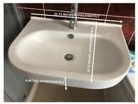 BATHROOM SINK - BRILLIANT CONDITION - WITH TAP - QUICK SALE!