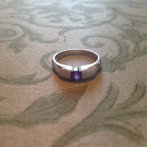 Size 6 Silver Ring with Amethyst