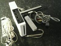 Nintendo Wii game console with Wii sports game & controller & motion sensor