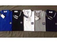Stone Island Men's polo t shirt Long sleeves 5 colours £18 each cotton