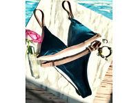 Stylish velvet bikini
