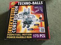 Perpetual motion power marble run kit