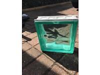 40 Glass Green Blocks