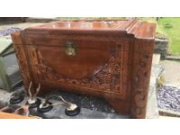 Gorgeous hand carved chest