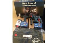 NEW Bosch Twin Pk SDS & Combi Drill 18v 3Ah Batteries - Dewalt Makita Panasonic Festool
