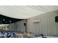 Ivory Marquee Linings & Black Star Cloth For Sale