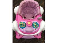 Pink coupe baby walker / rocker