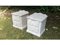 Solid pine bedside cabinets hand painted in Annie Sloan Paris Grey