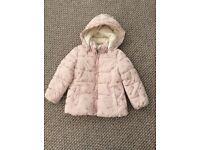 Girls warm winter coat