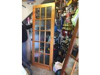 Internal, hardwood full glazed door x2