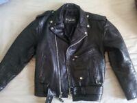 Leather Jacket Vintage Biker Heavy Metal Style - 100% Real leather