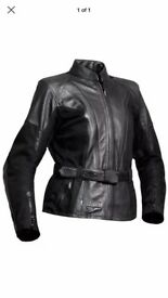 Jofama Swedish leather ladies motorcycle jacket size 10/12