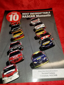 NASCAR -Collectors Book- the 10 most unforgetable Nascar Moments