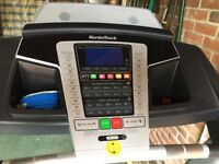 NordicTrack treadmill (hardly used). Incline feature, AUX connectivity