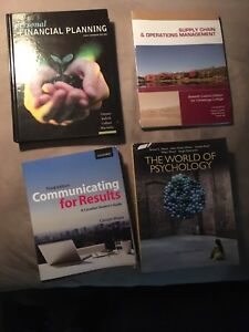 Conestoga 1st year financial planning + a psychology textbook