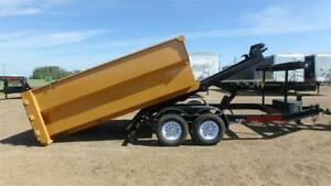 2017 Double A, 14FT Dump Trailer / Roll Off (14,000LB GVW)