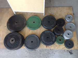 500 lb of Standard weights .75 per pound. choose what you want.