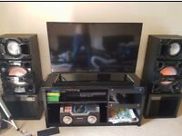 Flat screen tv and whole sound system