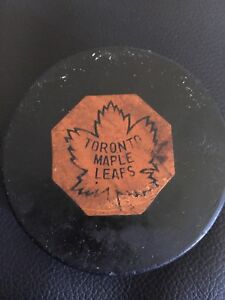 1970 Toronto Maple Leafs game puck