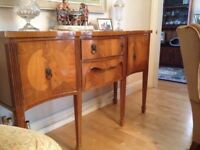 Bow Fronted Antique Sideboard