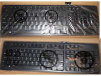 2 x NEW DELL USB QWERTY KEYBOARDS KB212 UK