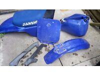 ( OFFERS ) JIANSHE PY - 80 Plastics , Chain Gaurd And Petrol Tank ( OFFERS )