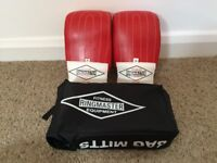 Ringmaster Boxing Gloves Sparring (Red) Professional Leather